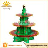 Wholesale Christmas Tree Design Cupcake Stand Party Supplies Cake Holder