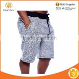 MENS BLACK CRACKLE ELEPHANT PRINT FRENCH TERRY JOGGER SHORTS