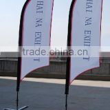 outdoor advertising rotating promotion flying teardrop banner flags printing for sales