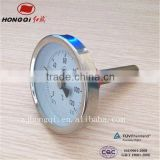 industry usage back connection hot water temperature gauge