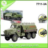 New item high quality diecast models pull back plastic toy truck with sound and light include battery toys truck