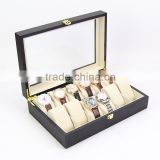 Fashionable watch box,Luxury box case wholesale, 12 grid display packaging wooden watch boxes
