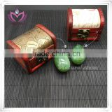 only polished 100% natural jade eggs for kegel exercise jade eggs set jade yoni eggs provide gift box