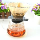 Coffee Server, Standard Glass Coffee Carafe, Coffee Pot with coffee filter paper set