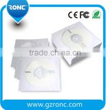CD white paper sleeve with transparent window