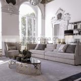 Vintage Italy Design Living Room Furniture/ Luxury Top Quality Fabric Sofa Set/ Gorgeous Sectional Sofa Couch