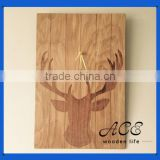 Personalized Buck Wooden Block Digital UV printing on wood Custom Wooden Poster Laser Deer Picture on Wall for Home Decoration