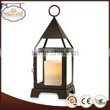 Competitive price factory directly christmas metal lantern with green color for home decor