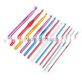 12pcs 2-8mm 2.5mm Multicolour Aluminum Crochet Hook Set Knitting Needle Set