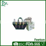 Stainless steel garden tools with garden tote in nylon bag