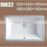 Undermount porcelain kitchen sink