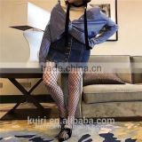 WS-8 2017 Hot Selling Women's Long Sexy Fishnet Stockings Fish Net Pantyhose Mesh Stockings Lingerie Skin Thigh High Stocking