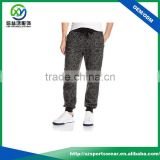 2016 Popular black color breathable sublimation printing sports wear running pants / jogger pants / harem pants for men