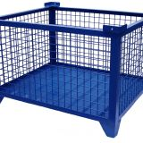 Blue Zinc Coated Wire Mesh Container , Wire Pallet Cage 1000kg