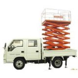 Vehicle mounted scissor lift platform