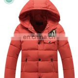 Boy's Padded Jacket with hood Nylon fabric Jacket Nylon Jacket Winter Jacket and cotton filling Jacket with zipper and hood