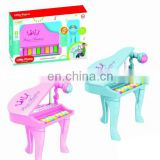 HIgh quality Cheap colorful musical Paino toys with Microphone