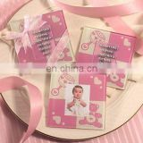 Baby Girl Glass Photo Coasters (