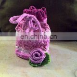 crochet pouch small cotton drawstring bags organic cotton drawstring bags