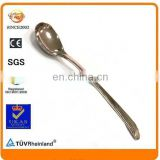 promotional zinc alloy metal blank silver long handle souvenir spoon