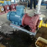 Caustic Soda Transfer Chemical Magnetic driven pump with flow capacity 25m3/h  0.8 Mpa