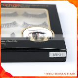 Wispy style false eyelashes human hair lashes