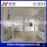Modern design wood grain color china famous brand aluminum alloy,pvc profile sliding stainless steel kitchen cabinet door