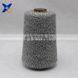 Ne16/1 metal fiber 5%-polyester fiber 95% twist with Ne32/2 black rayon/viscose  fiber yarn-XT11166