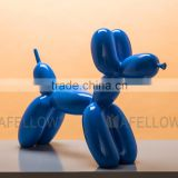 Fiberglass dog mannequin,blue color mannequin Balloon Dog manikin dog KEVIN2-BL