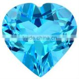 Blue topaz heart Shape Loose Calibrated Briolettes Faceted cut