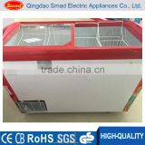 268L supermarket display freezer with one free basket