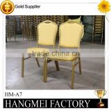 Competitive price high quality used stackable aluminium banquet chairs HM-A7                                                                         Quality Choice