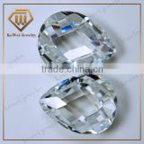 Shining Checkerboard White Cubic Zirconia Gems Rough Gemstone