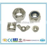 2015 China hot selling customized zinc/nickel/chrome/tin/gold plating screw nuts, hexagon nut, hex nuts with RoHS2015 China hot