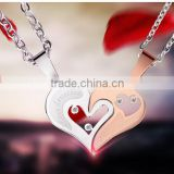 Fashion Jewelry 2016 316l Stainless Steel Jewelry Heart Pendant Necklace Necklaces For Couple                                                                         Quality Choice                                                     Most Popular
