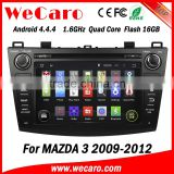 "Wecaro Android 4.4.4 multimedia sytem 8"" in dash android double din car dvd player for mazda 3 radio gps bluetooth 2009-2012"
