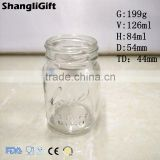 Glass Beer Jar 125ml Logo Mason Jar Screw Top
