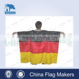 100D polyester custom printed body cape flag