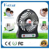 NEW! Rechargable super strong wind mini fan small table fan desk fan with adjustable speed and LED flashlight