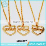 online shop china gold necklace designs in 10 grams 3 best friends necklaces pendant necklace