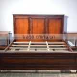 American style antique king size upholstered bed wooden bed