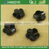 Flower Shape 2 holes black color Resin Button -- 10ZA008