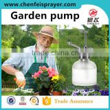 Custom plastic and chromed garden sprayer pump head water flower for glass bottle