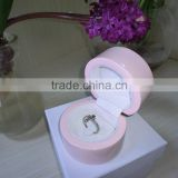 luxury piano varnished lacquer round circle handmade wooden ring box ring gift ox wedding box