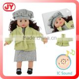 Funtional 14 inch baby doll kids toys for girls with 6 IC sounds and 6P EN71 EN62115