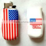 fashion flag silicone promotional lighter covers