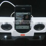 Foldable and Portable Mini-boom 3.5mm Bass Mini Speaker for iPhone iPod MP3 Tablet PC Laptop with keyclain