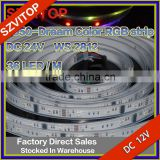 Dream Color 5050 RGB LED Strip 24V WS2812 36led/m Addressable Epoxy Waterproof IP65 IP67 High Quality CE CCC Certificate
