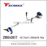engine valve 43cc ZMG4301T 1.1kw electric start brush cutter with bike handle