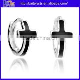 Wholesale Jewelry Black Stone 925 Sterling Silver Earring For The Boys
